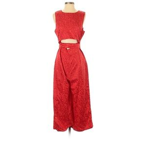Red Nasty Gal Jumpsuit Midriff Cut-Out